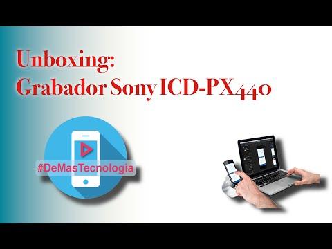 Unboxing: Grabador Sony ICD PX440 Español