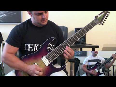 Metal Demo With New IBANEZ IRON LABEL RG 7 STRING!!