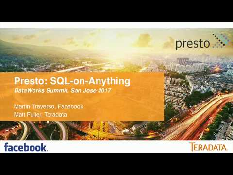 Presto  SQL on anything