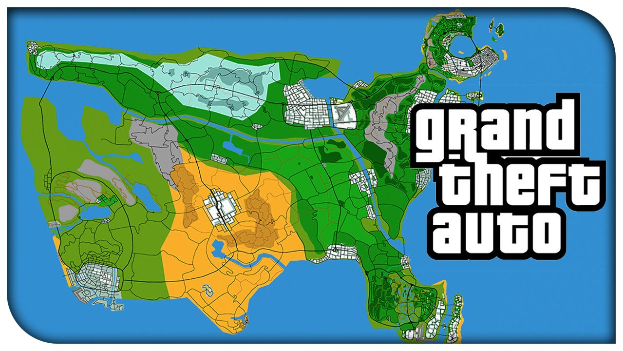 Awesome Grand Theft Auto USA Concept Map Vice City Liberty City - Los angeles map funny