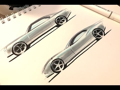 How to Sketch a Car in 10 minutes (SIMPLIFIED)