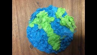 Tissue Paper Planet Craft.
