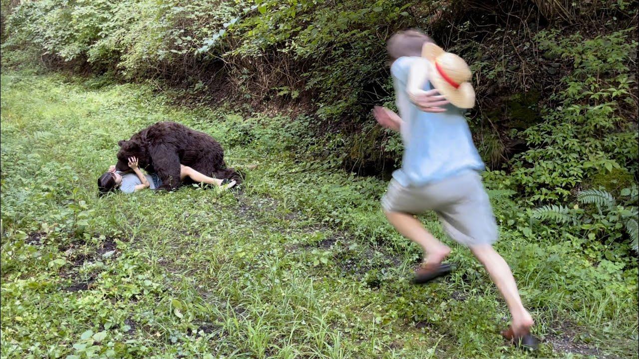 【モニタリング】森で相方が本物のクマに襲われていたら…