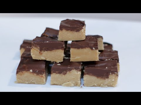 How to Make Peanut Butter Cup Fudge   5 Ingredients