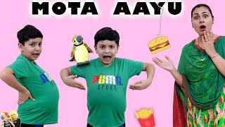 MOTA AAYU | Moral story for kids | Healthy Eating habits #bloopers Aayu and Pihu Show