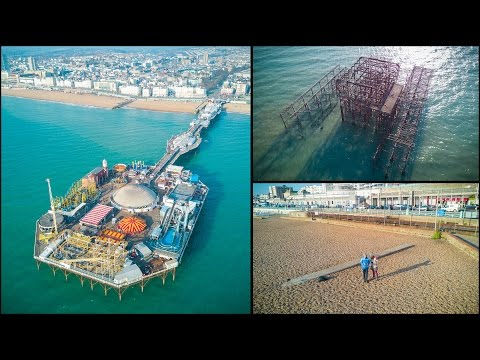 Brighton Winter - day trip with some sea droning