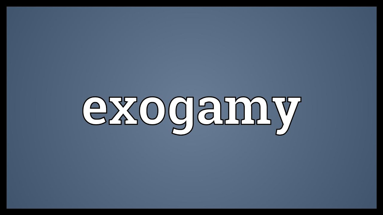 what does exogamy mean