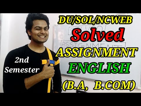 DU/SOL English Solved Assignment For B.A, & B.COM   Solved Assignment   YSC ACADEMY   SOL UPDATES
