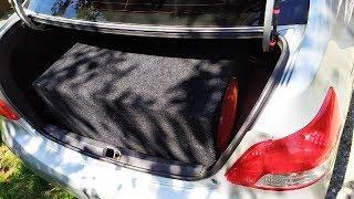 Toyota Yaris Sedan размеры багажника, короб под 2х12