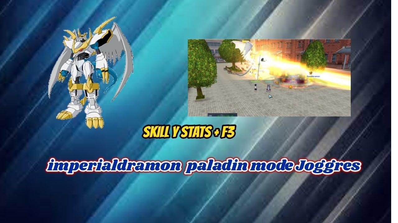 Imperialdramon Paladin Mode Joggres Skill y Stats + Clon ...