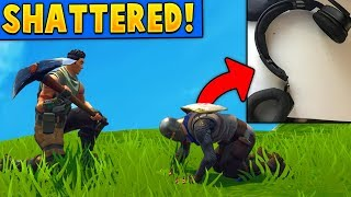 He SHATTERED his Headset when a DEFAULT did this to him! (Fortnite Battle Royale)