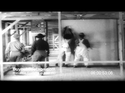 HD Stock Footage WWII Japanese Internment Model Town Wyoming