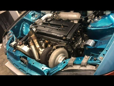 Crazy xxxHP Turbo Civic on the Dyno (RAW Performance Dyno and Tuning)