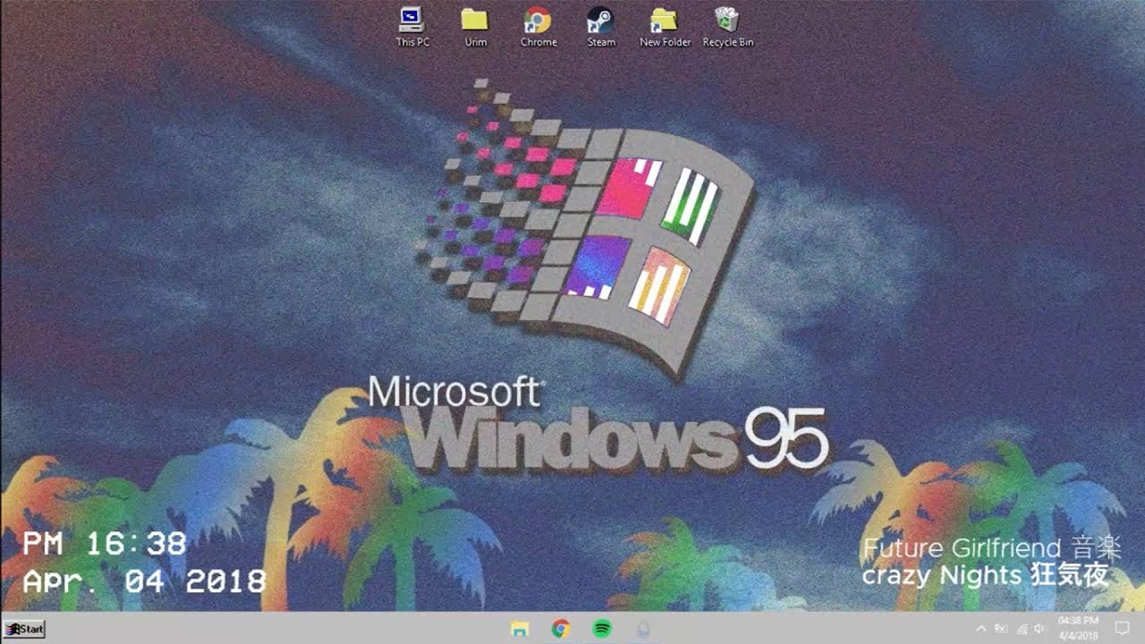 vaporwave windows theme