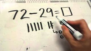 Subtraction with Quick Draw (ungrouping a ten)