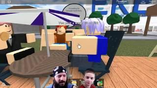 restaurante 5 estrelas! Pai e filho que jogam Roblox Restaurant Tycoon. Twitch audição PART # 1