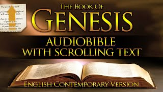 Holy Bible Audio: GËNESIS 1 to 50 - With Text (Contemporary English)