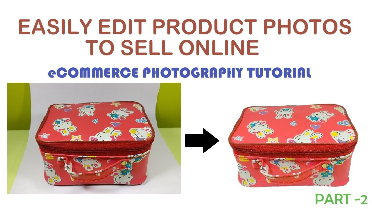 How to edit Product Photo to sell on e-Commerce marketplaces Amazon Flipkart eBay (White Background)