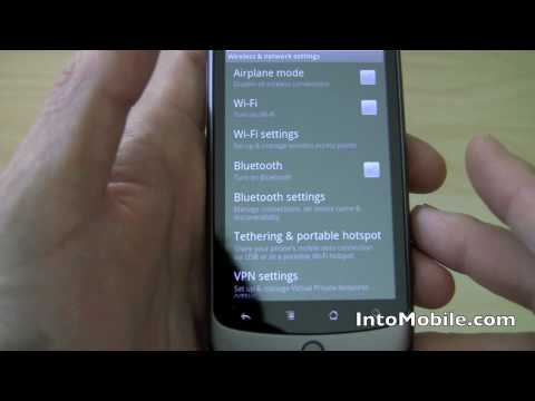 Android 2.2 OS Froyo - USB tethering and WiFi hotspot demo