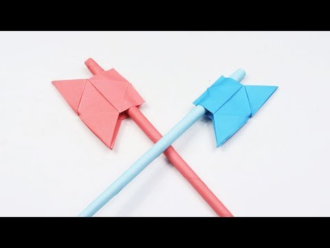 How to make a Paper Battle Axe - Easy Origami Paper Axe Tutorial