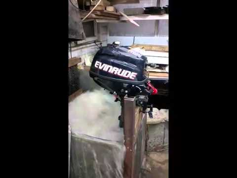 Evinrude 3 5 hp outboard engine youtube for 5 hp motor weight