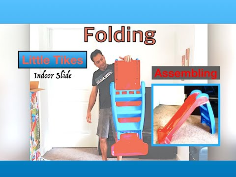 Little Tikes Kids Red/Blue Indoor/Outdoor First Slide Review/Assembling & Folding!