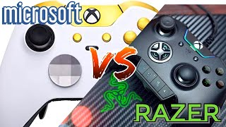 Xbox Elite vs  Razer Wolverine Ultimate (Best Xbox One Controller Comparison) Video