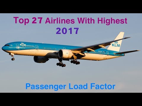 Top 27 Airlines With Highest Passenger Load Factor 2017 - Ashutosh Sahu