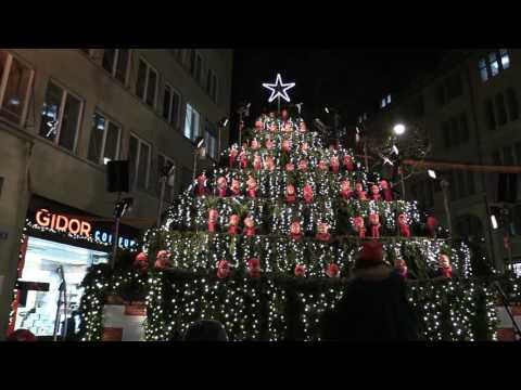 The Singing Christmas Tree, Zurich, 5 December 2016