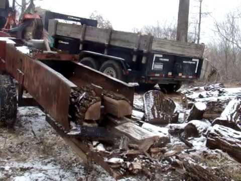 Tractor PTO Baler Wood Log Splitter 4 Way Wedge Design