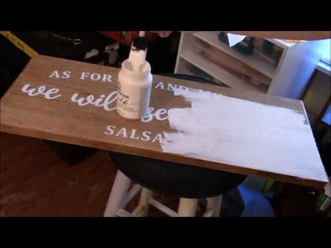 Reverse stenciling with your cricut using wood stain and chalkboard paint the EASY WAY