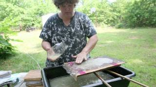 Hand Papermaking from kozo (mulberry) in South Carolina