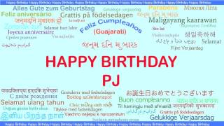 PJ   Languages Idiomas - Happy Birthday
