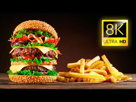The Most Delicious Food in the World in 8K ULTRA HD / 8K TV