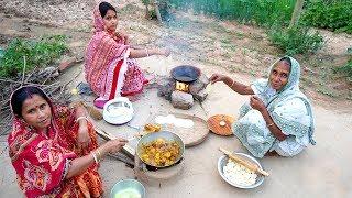 Bangali Favorite Fulko Luchi and Chicken prepared by Grandmother Village Style Luchi &amp ...