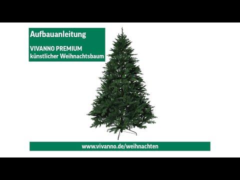 Künstlicher Weihnachtsbaum Aldi.Vivanno Premium Weihnachtsbaum Aufstellen Aufbauanleitung Youtube