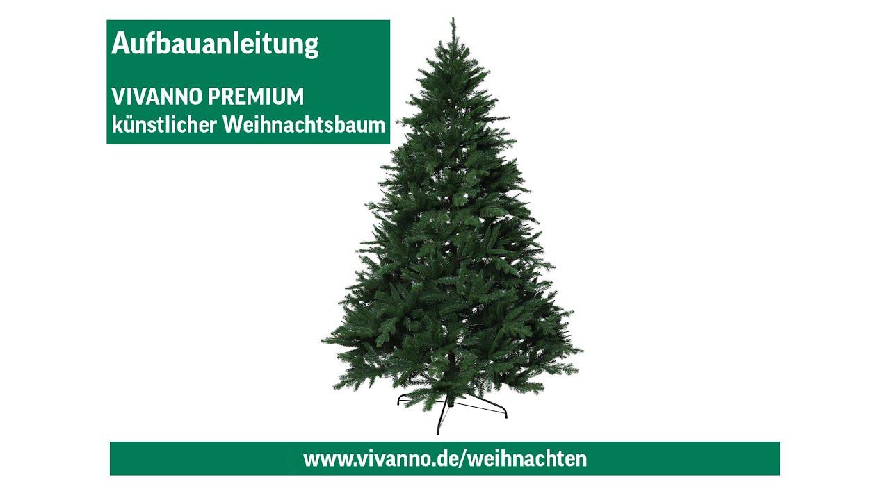 Weihnachtsbaum Aufbauen.Aufbauanleitung Künstlicher Tannenbaum Vivanno