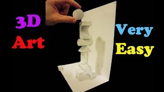 Very Easy!! How To Draw 3D Basics Structure Shapes