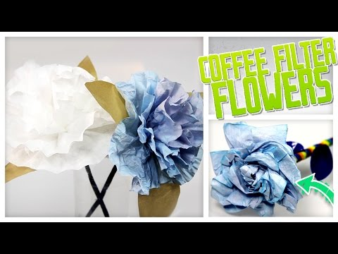 DIY Flowers Made From Coffee Filters! - Do It, Gurl
