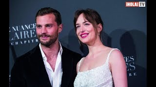 "Dakota Johnson y Jamie Dornan en la premiere ""Fifty Shades Freed"" en Paris 
