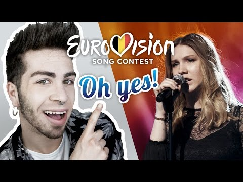 """Reacting to BELGIUM Blanche """"City Lights"""" EUROVISION 2017"""