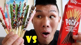 HOMEMADE POCKY vs STORE BOUGHT Taste Test || Life After College: Ep. 573