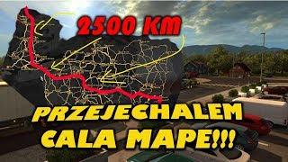 Przejechałem całą mapę *2500 KM* - Euro Truck Simulator 2
