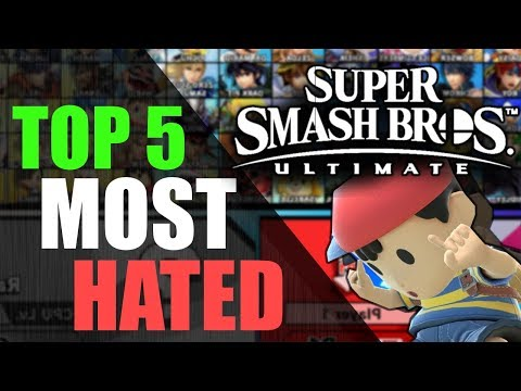 Top 5 Hated Characters | Super Smash Bros. Ultimate thumbnail