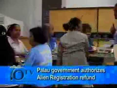 Palau government authorizes Alien Registration refund