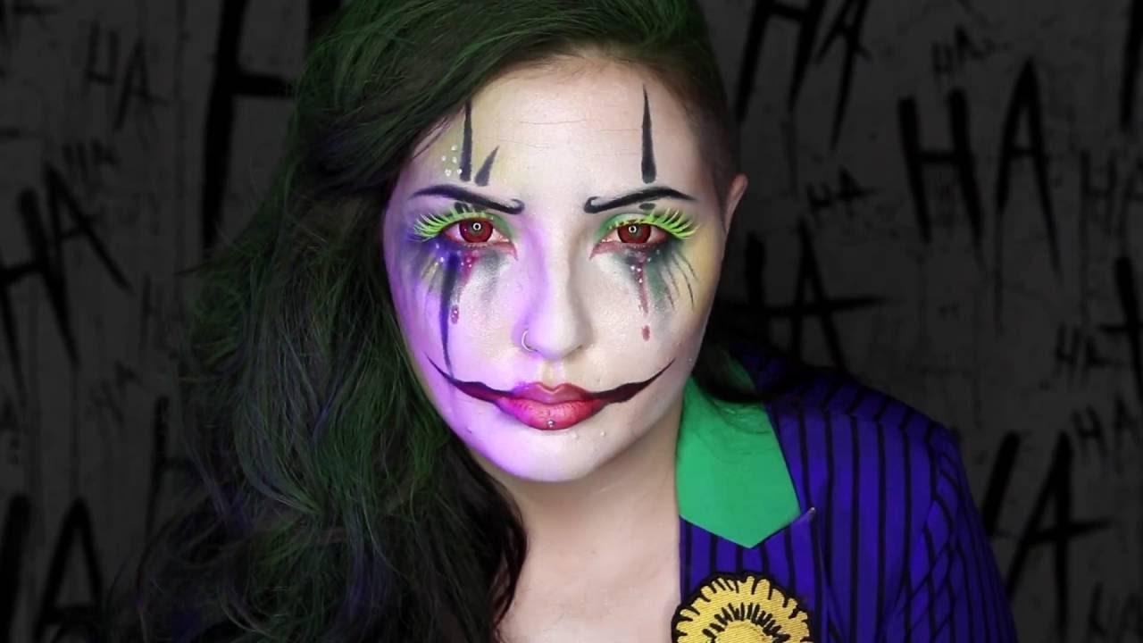 Classic Joker Makeup Tutorial Spirit Halloween Youtube - Joker-makeup-tutorial