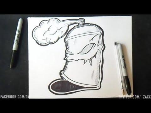 wie zeichnet man spraydose youtube