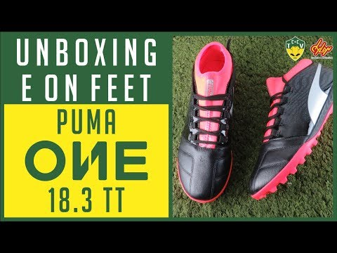 100% quality good quality official supplier CHUTEIRA PUMA ONE 18.3 TT SOCIETY - UNBOXING E ON FEET ...