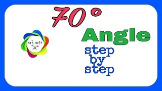 How to construct 70 degree Angle|| Angle of 70 degree||70 degree ka kon||srk drawings|| srkarts||