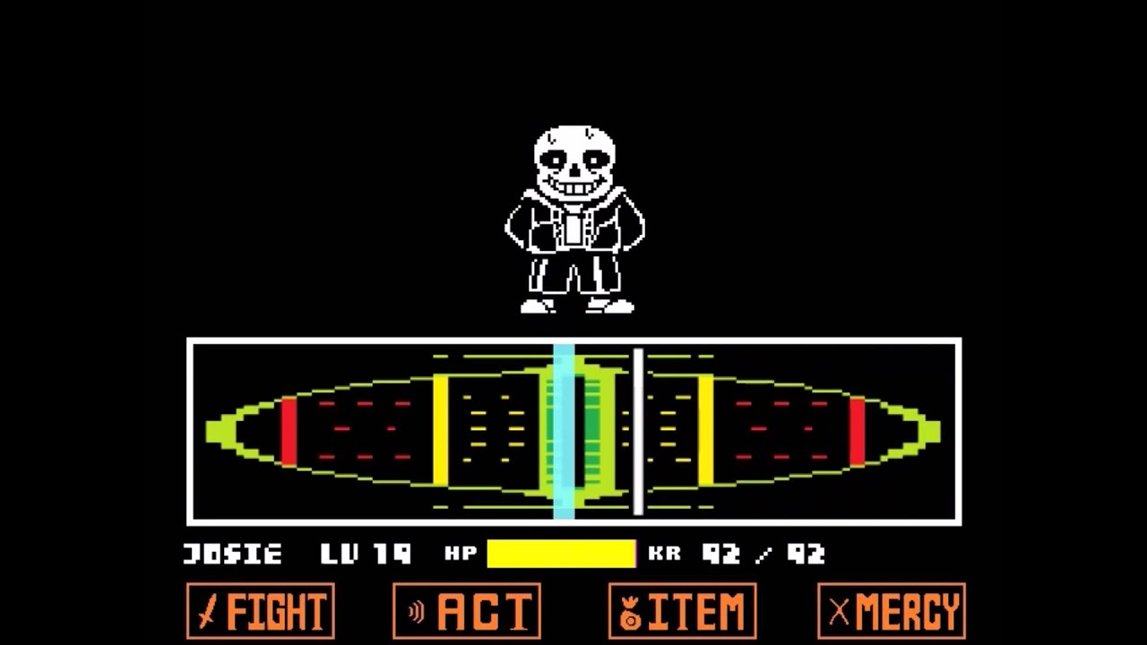 Undertale No Mercy: Sans Fight (First Try) - YouTube